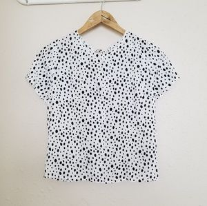 Abercrombie & Fitch Polka Dot Open Back Blouse